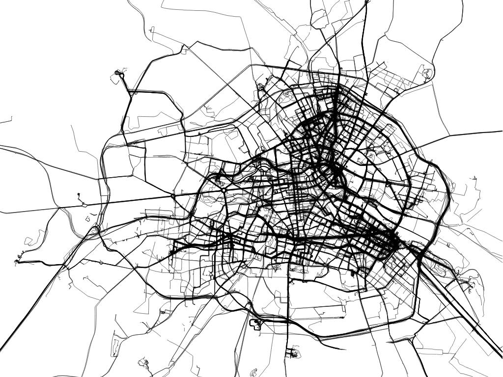 All Journeys in Berlin 2003 - 2012 (ten year drawing) Daniel Belasco Rogers