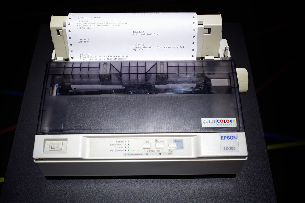 Dot matrix printer installed in Tracing Mobility Photo: Manuel Reinartz